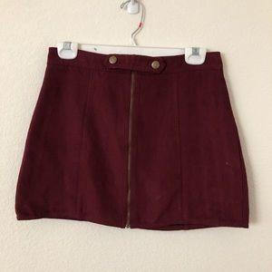 Maroon LA HEARTS Skirt Size S